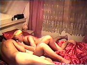 Geiler dreier mit einem jungen stecher horny threesome with a young stud