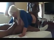 Huge-titted mature slut got destroyed by black bulls in a cuck 3 way