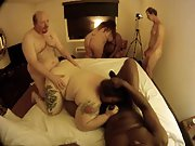 Fat mature femmes participating in an interracial orgy