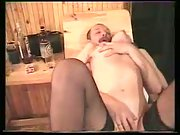 Alina in sauna enjoying threesome sex with her husband and his acquaintance