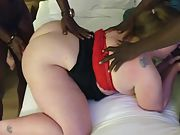 Sexy cougar eva fucks big black dick boyfriends and loves every minute of it