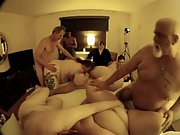 Big plump mature gangbang senior swingers showcasing they still do it